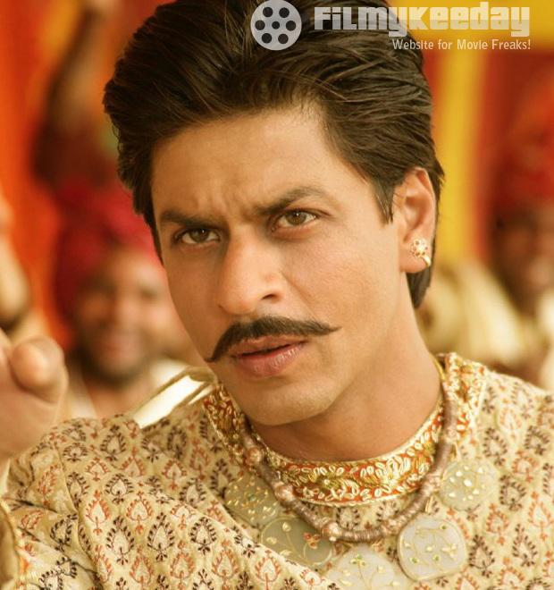Shahrukh Khan in mustache
