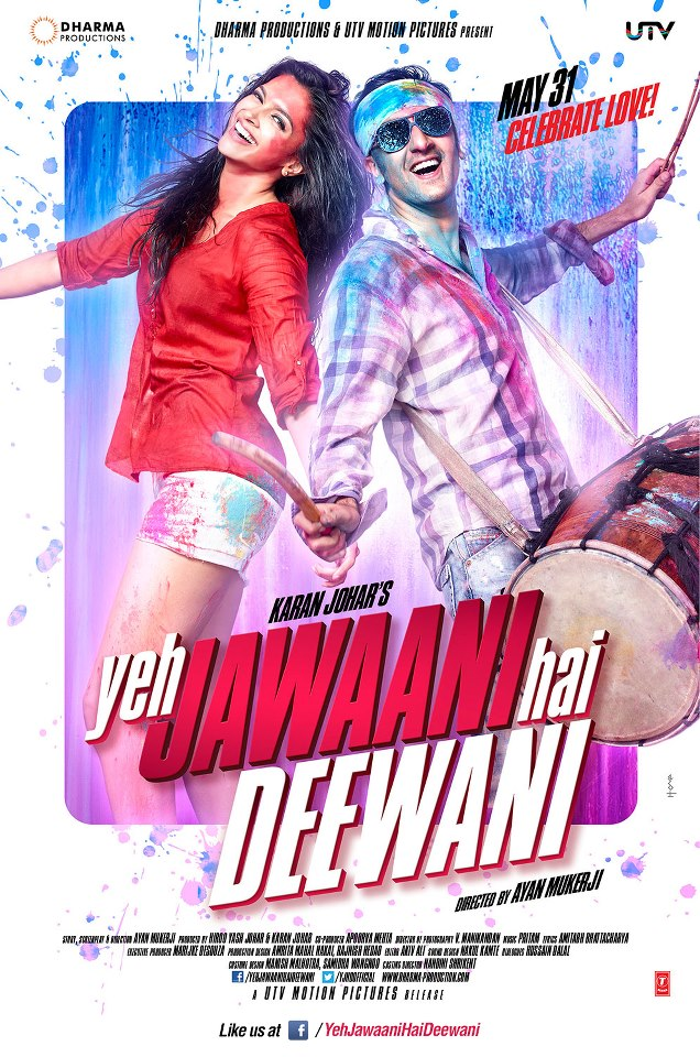 yeh jawaani hai deewani poster lyrics songs,movie review