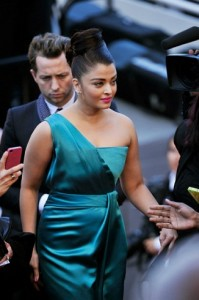Ash Cannes teal gown