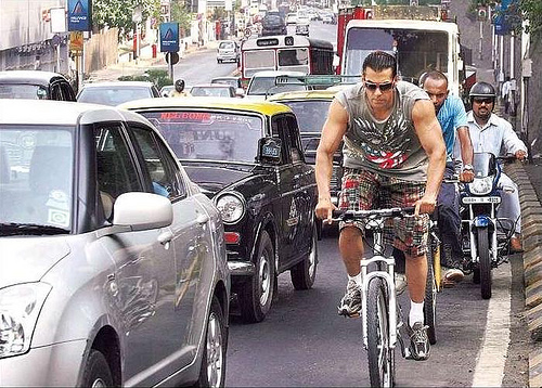 Salman Khan Cycling