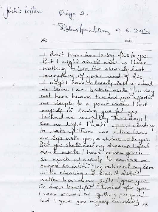 jiah khan suicide note found (scanned copy)