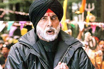 Amitabh Bachchan as Sikh in Major Saab