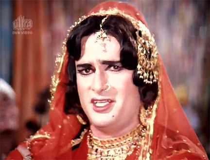 Shashi Kapoor as a Girl or woman