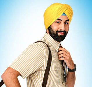 Ranbir Kapoor as sardaar in Rocket Singh Salesman