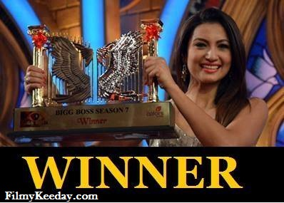 Gauhar Khan Winner Bigg Boss 7