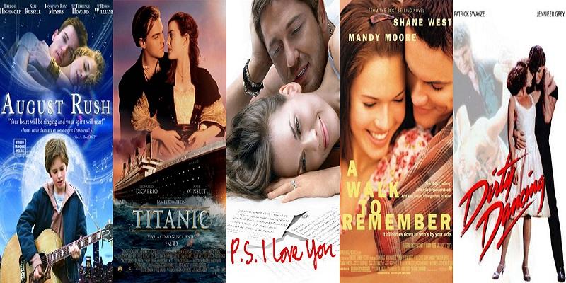 Romantic movie collage 2