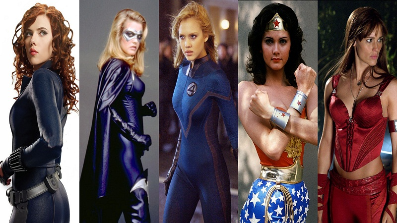 hottest female superhero collage 2