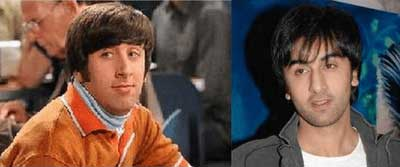Ranbir Kapoor and Simon Helberg (Howard Wolowitz from The Big Bang Theory)