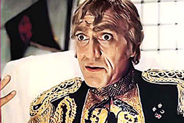 Amrish Puri in Mr India as Villain