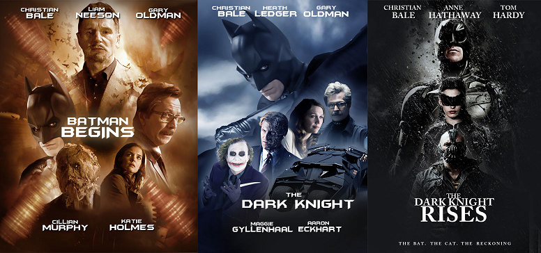 Dark Knight Trilogy Christopher nolan movie Batman series posters