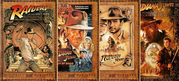 Indiana Jones Series Poster DVD Covers