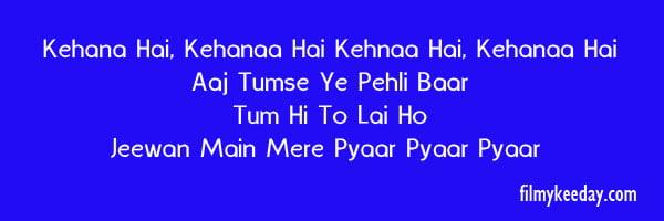 Propose Song kehna hai kehna hai kishore Kumar