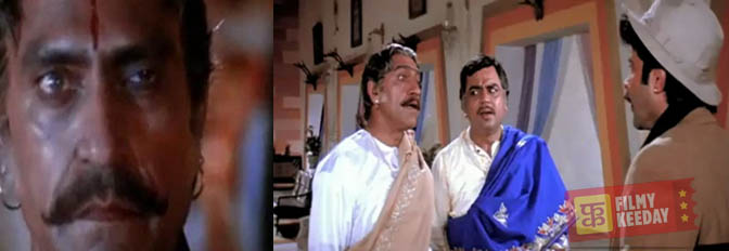 Amrish Puri in Ram Lakhan as Bishambhar nath