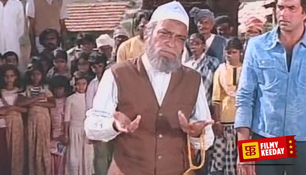 AK Hangal as Rahim Chacha in Sholay