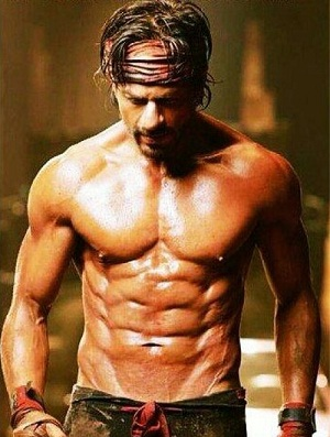 Shahrukh khan 10 Pack Abs in HNY Body