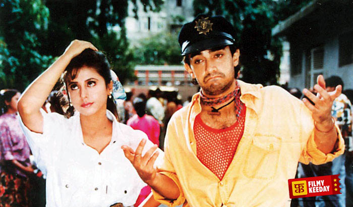 Rangeela love triangle in Bollywood movies