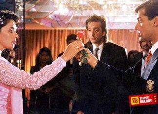 Saajan Hindi movie on love triangle