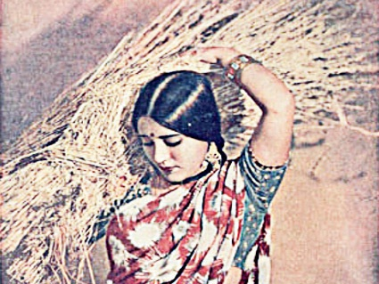 Scene from Kisan kanya 1937 first colored film