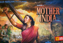 Movies on Farmers in India Mother India Poster Nargis